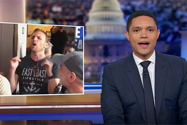 Trevor Noah shouts out Come From Away's street performance during the Manhattan blackout