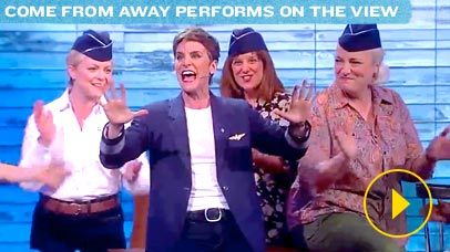 Thumbnail image of Come From Away Cast performing on The View