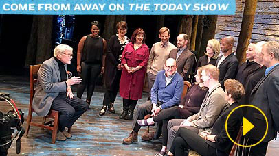 Thumbnail image of The Today Show interviewing Come From Away Cast on Broadway stage