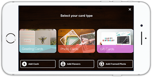 Phone screenshot of Felt app selecting the card type